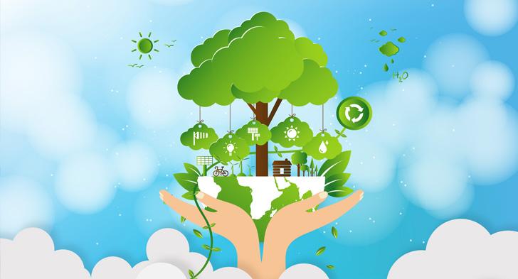 地球環境を支える手