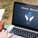 パソコンに表示する地球温暖化