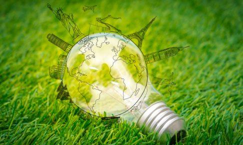 地球と電球