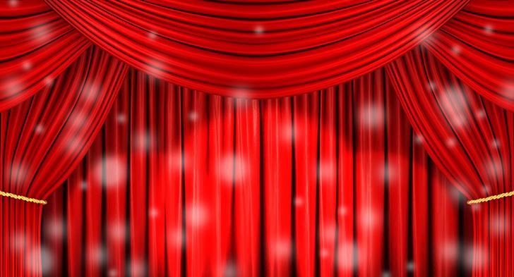 舞台の赤幕