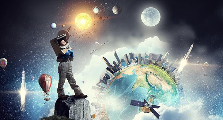 宇宙飛行士の夢を抱く子ども